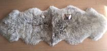 新品ムートン ラグ 羊2匹 横185cm 縦65cmウールマーク100%