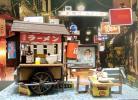 リアカーの「屋台そば」ジオラマ完成品 ゴールデン街の片隅で
