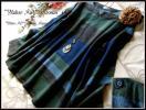◆新品3L◆表起毛*オシャレカラー配色綿100%大人柄チュニック