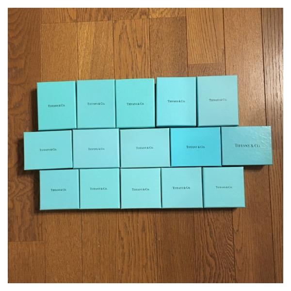 A.ティファニー 空箱3種×5=15個