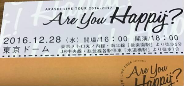 嵐 ARASHI 12/28 東京ドーム スタンド3塁側 1~4枚連番可