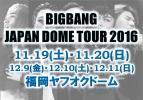 BIGBANG12/11【アリーナ連番】福岡ヤフオク!FC SPECIAL EVENT