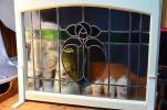 英国 アンティーク イギリス製 ステンドグラス 脚付 インテ