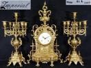 ◆田園◆Imperial イタリア製 真鍮燭台付置時計