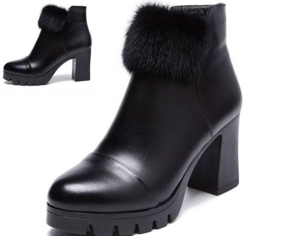 ◆秋冬◆美品◆本革◆ レディース ブーツ★黒