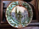 (仏)アンティーク 聖ジャンヌ・ダルク バルボティーヌ絵皿