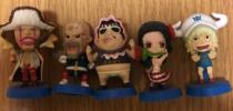 ワンピースアニキャラヒーローズ ドフラミンゴ海賊5体 中古品