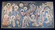 国芳浮世絵 3枚続 木版画 仏 獅子 虎 龍