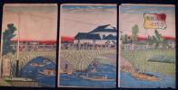 東京萬代橋之図 芳年画 浮世絵 木版画
