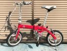 ●L【FIAT】14インチ折りたたみ自転車 AL-FDB14 レッド 中古美品