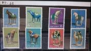 中国切手 特46 唐三彩 8種完 未使用 1961年