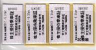 株主優待券 京王電鉄株主優待乗車券20枚 5月31日まで