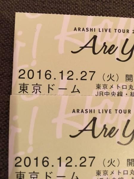 嵐 チケット 東京ドーム 12/27 22ゲート 2枚連番セット