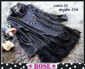 ◆Rose◇4L大人フェミニン♪レースの裾が素敵なニットソーワンピ