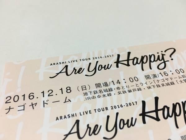 嵐 チケット 名古屋 アリーナ 12/18日(日) 2枚セット