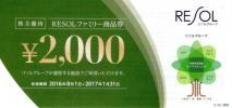 リソル 株主優待券 ファミリー商品券 20,000円分