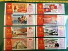 北朝鮮切手 2016年 朝鮮労働党第7回大会 部門毎の課題 8枚セット