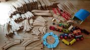 大量 BRIOブリオ IKEAイケアなど 木製レール 汽車橋 回転台車庫
