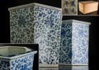 00741 中国美術 古玩 清道光年製 青花纏枝蓮鉢/個人蔵