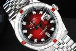 ロレックス デイトジャスト ワインレッド SS 8P+2Pダイヤ Red