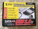 サンワサプライ sanwa SATA-USB3.0 変換ケーブル USB-CVIDE3