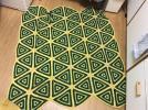 毛糸敷物こたつカバーにも昭和レトロ手編みミッドセンチュリー系