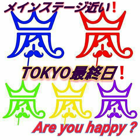 嵐 東京最終日12/28(水)3塁側~メインステージ&トロッコ見易い