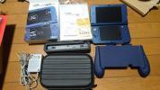 中古美品 new 3DS LL本体 メタリックブルー  +周辺機器等