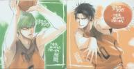 劇場版 黒子のバスケ 入場特典コースター 緑間&高尾 秀徳高校