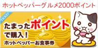 ホットペッパーグルメ2000ポイント+ポンパレ1974円分