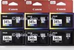 キャノン純正 大容量インク (BC-341XL/BC-340XL) カラー 黒 6箱