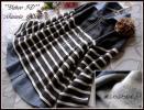 ◆新品4L~3L◆裏起毛ボーダー黒MIX&ほんのり起毛綿ダンガリーシャツ重ね着風tops
