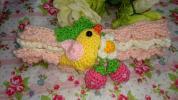 【新作】小鳥さんと苺 編みぐるみ ヘアバンド、ターバンhan
