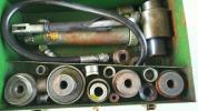 鋼鉄板用穴明機、携帯用、油圧式、新中央工業、ジャンク扱い