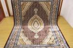 高級天然シルク100% ペルシャ柄絨毯 新品未使用 150×230