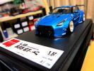 激レア! Make up アイドロン1/43LB☆WORKS R35 GT-R Candy Blue/BBS・金LM/限定Limited・70pcs!!