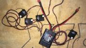 JRPROPO中古RD1232 DSMJ2.4G受信機サテライトアンテナ4個付き
