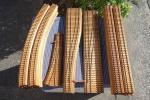 HOゲージ / 木製線路 レール ストレート カーブ ポイント他 いろいろ まとめて 25点