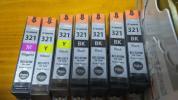 新品 キャノン純正インク BCI-321 黒4個+黄色2個+マゼンタ1個