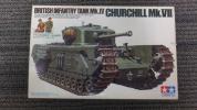 【E25】戦車プラモ未組立♪タミヤ 1/35 チャーチル Mk.VII