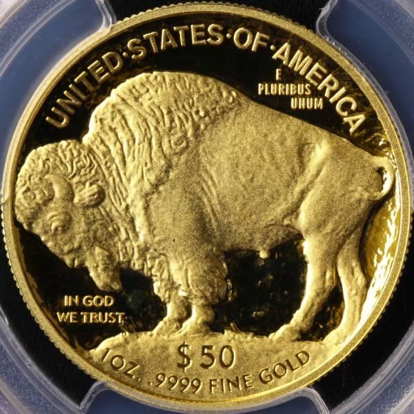 アメリカ 2014W バッファロー 50ドル 金貨 PCGS PR70DCAM FS