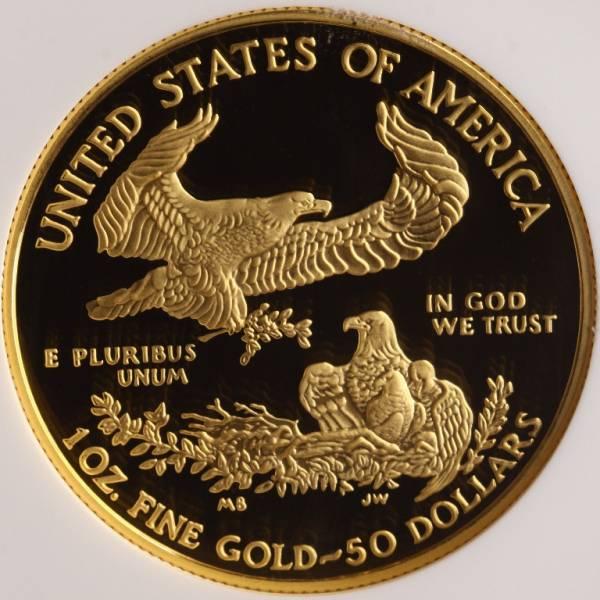 アメリカ 2006W イーグル 50ドル 金貨 NGC PF70UC 1oz 最落なし_画像2