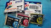 ■エプソン純正インクICBK62/ICC62/ICM62他全5個/送料無料