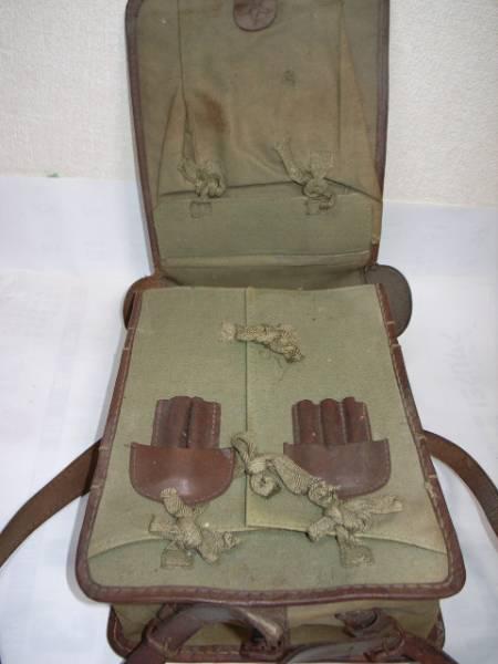旧日本軍・☆印・革製カバン・鞄・リュックサック・当時物/美品_画像2