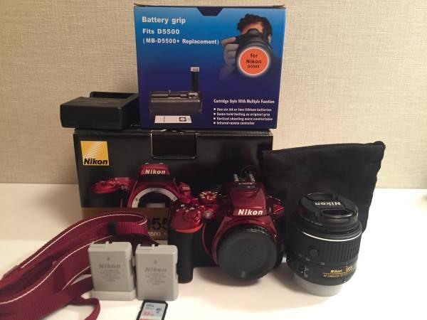 超美品 Nikon ニコン D5500 18-55 VRII Kit 一眼レフ 保証付き おまけ多数 バッテリーグリップ レンズフィルター