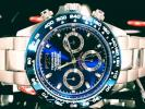 TECHNOS テクノス 正規品クロノグラフ腕時計ブルー×ブルー