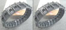 芯金レスゴムクローラ/キャタピラ 120mm幅 60ピッチ 20リンク(コマ) イセキ オーレック スバル 三菱 ヤンマー