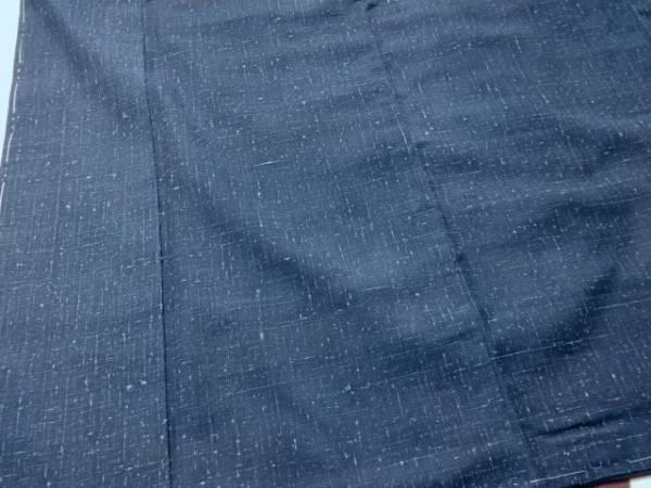 ■ 逸品 新品 手引き 藍染め 経節 真綿紬 男性 as ■