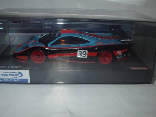 即決 ASC ミニッツ №MZP213GD マクラーレン F1 GTR ガルフレーシング 1997年ルマン24h №39 関谷/ベレム/ギルバートスコット車