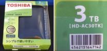 【419/未使用】TOSHIBA HD-AC30TK [ポータブルHDD 3TB]